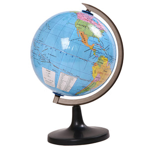 7.2 Inch Desktop Political Globe World Globe with a Desktop Stand Detailed World Map Kids Educational Learning Toy