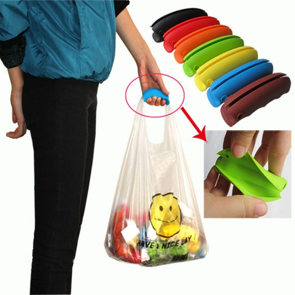 Comfortable Colorful Silicone Bag Clips Bag Carry Handle Shopping Bag Handle Kitchen Tool