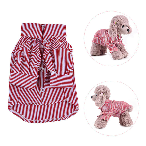 Premium Breathable Pet Dog Striped Shirt Clothes Underwear Gentleman Super Cute Puppy Costume Supplies Adopt for Soft Cotton