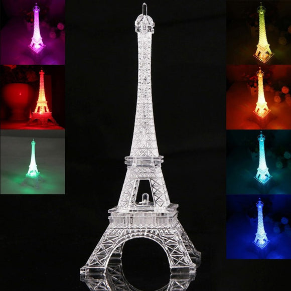 2018 Fashion Eiffel Tower Night Light Colorful LED Lamp In Bedroom Wedding Decoration Home Accessories Party Birthday Gift