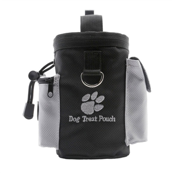 Dog Treat Pouch Pet Hands Free Training Waist Bag Drawstring Carries Pet Toys Food Poop Bag Pouch
