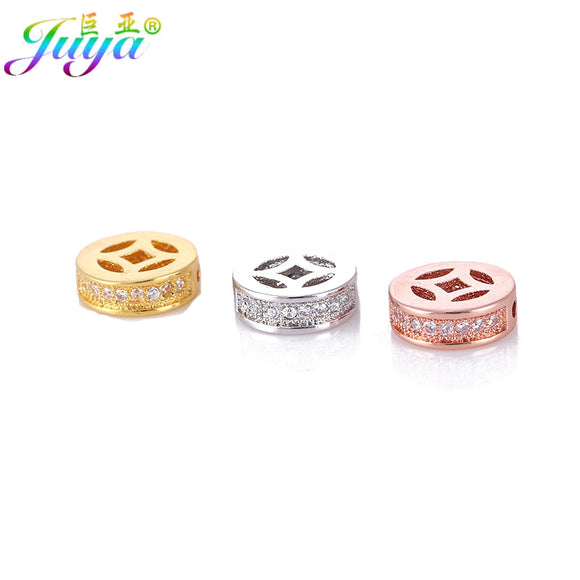 Wholesale Metal Beads Jewelry Finding Supplies Gold/Silver Spacer Charm Beads Accessories For Beadwork Perles Jewelry DIY Making