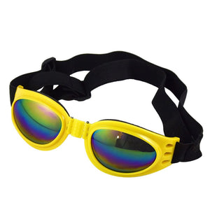 Color  Cideros Multi-Color Protection Pet Glasses Dog Sunglasses Dog Glasses Large Dog Goggles Eye Wear UV Protection for Dogs about over 13 lbs (Yellow)