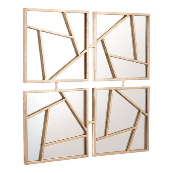 Zuo Four Faces Mirror Gold