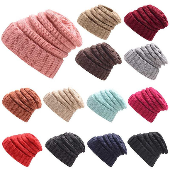 Winter Beanie Hat Ladies Knit Hats For Women Men Skullies Beanies Warm Cap Casual Slouchy Woolen Crochet Hat Unisex Baggy Caps