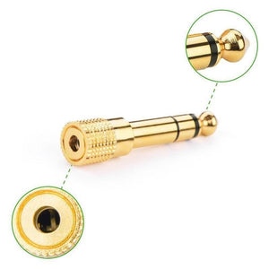 6.5mm Male To Female 3.5mm Audio Adapter Microphone Headset Adapter  Accessory