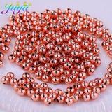 Needlework Jewelry Beads Supplies Gold/Silver/Rose Gold/Black 2.5mm/3mm/4mm/5mm/6mm/8mm Copper Beads For Braid Jewelry Making