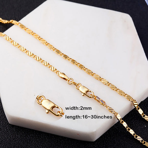 Men Women Fashion Chain Necklace Bride Wedding Engagement Fine Jewelry