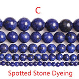 CAMDOE DANLEN 100% Natural Lapis Lazuli Round Beads 4 6 8 10 12mm Diy Bracelet Necklace Fashion Jewelry Making Christmas Gift