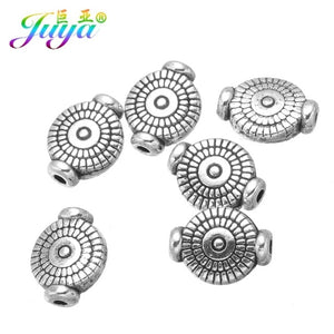 30pcs/lot Wholesale 8mm Metal Beads Antique Silver Decoration Charm Beads For Natural Stones Needlework Jewelry DIY Making