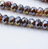 Rondelle Beads Faceted 4mm Crystal Glass Beads 145pcs/lot DIY Crafts Stone Spacer Crystal Loose Beads Czech jewelry materials