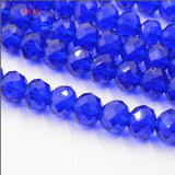 FLTMRH  5A qaulity !!!6MM 50 piece/lot Bicone crystal beads Cut Faceted Round Glass Beads