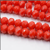 FLTMRH  50pcs/String 6mm Multicolor Austria Crystal Beads Cut Faceted Czech Glass Round Hole Bead For Kids DIY Jewelry Making H
