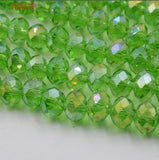 AB Color 4MM 145 piece/lot Faceted Bead Crystal Glass Rondelles Beads strings for DIY Jewelry Making Free Shipping
