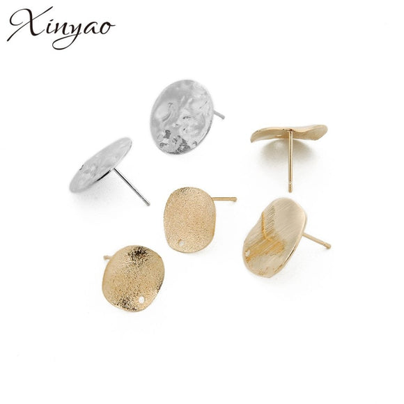 XINYAO 20pcs/lot 12/15mm Smooth Flat Earrings Fit Women Diy Bihemian Earrings Jewelry Accessories Findings F16340