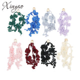 XINYAO 10pcs/lot Trendy Alloy Carved Cloth Charm Flower Tassel Jewelry Accessories For DIY Necklace Earrings Handmade Findings