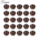 XINYAO 200Pcs/lot 7X12mm Deep Brown Natural Wood Beads Abacus Wood Charms Beads Loose Spacer Beads For DIY Jewelrys Findings