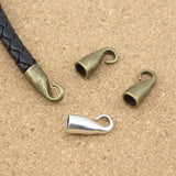 10pcs/lot hole size 5mm fitting round leather metal end Clasps Jewelry DIY Findings F856C