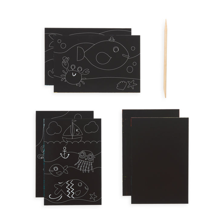 Scratch & Scribble Mini Art Kit - Friendly Fish