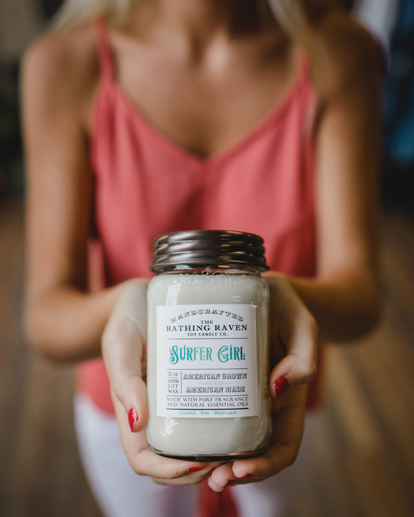 Surfer Girl 12oz. Mason Jar Soy Candle