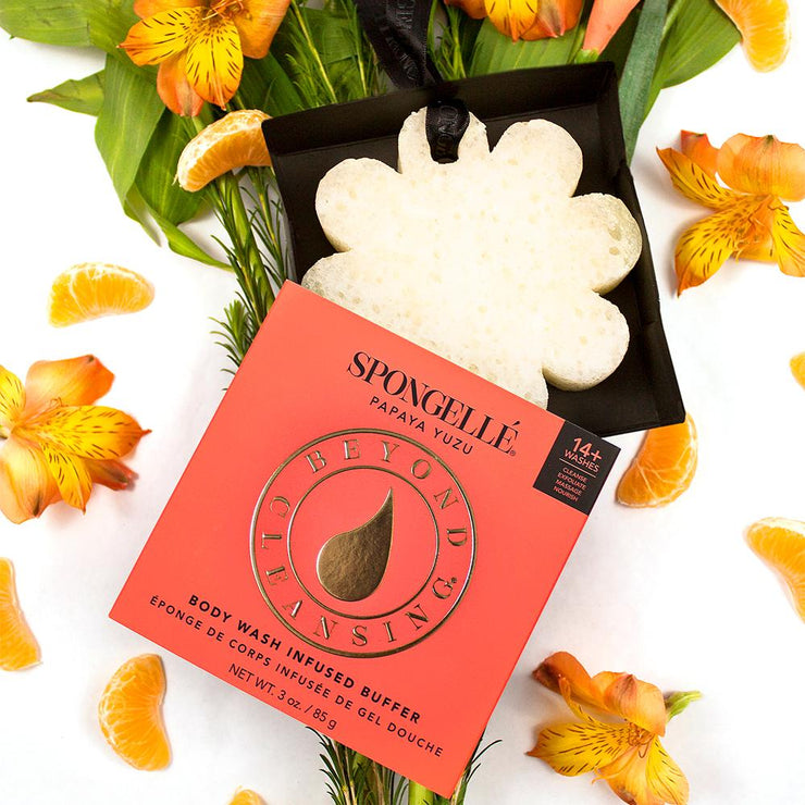 Spongelle Body Wash Boxed Infused Buffer (14+ Washes) - Papaya Yuzu