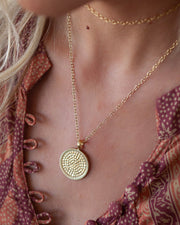 Large Medallion Reversible Necklace by Anna Beck