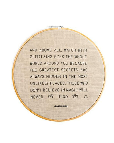 "**RESTOCKED** And Above All 12"" Embroidery Hoop"