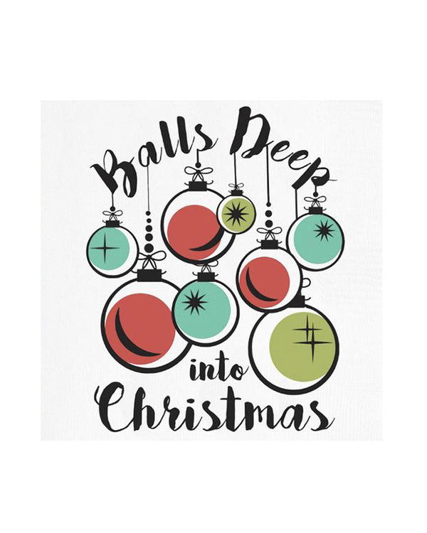 Balls Deep Holiday Napkins
