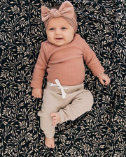 Muslin Crib Sheet - Black Vines