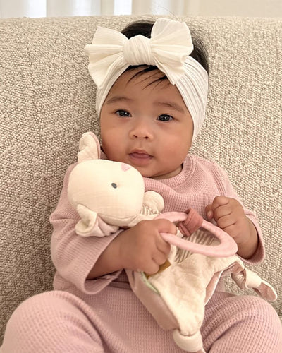 Lovey Plush with Silicone Teether Toy - Bunny