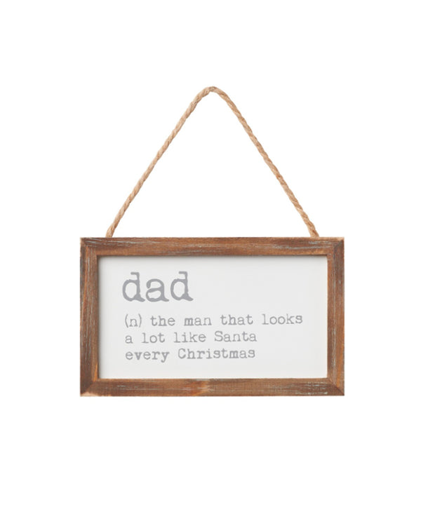 Dad Definition Holiday Sign