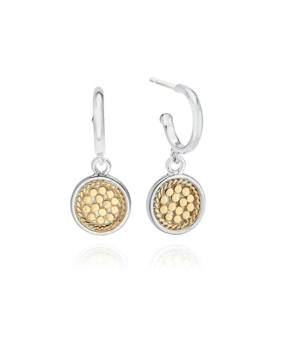 Classic Drop Disc Earrings by Anna Beck
