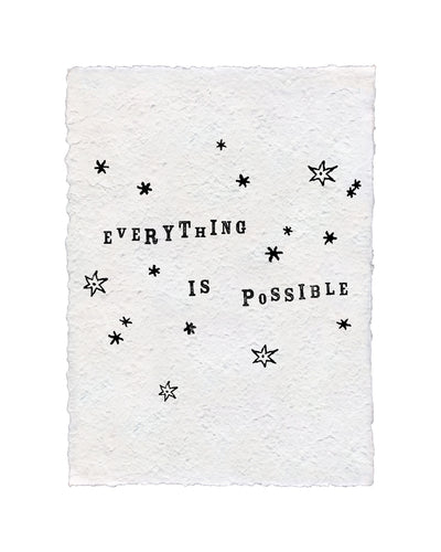 Everything Is Possible Handmade Paper Art Print