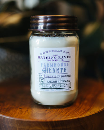 Farmhouse Hearth 12oz. Mason Jar Soy Candle