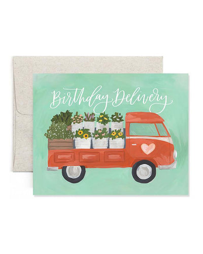 Flower Truck Birthday Card