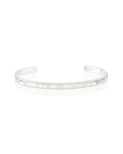 Hammered Stacking Cuff Bracelet by Anna Beck - Silver