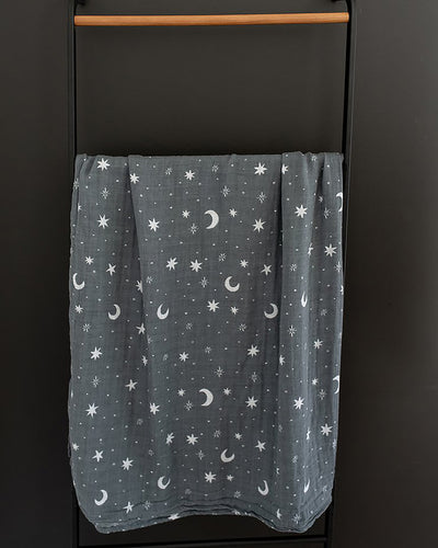 Night Sky Muslin Swaddle Blanket