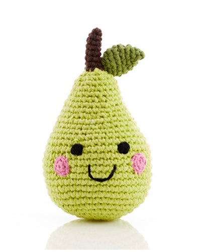 Friendly Faces Pear Rattle