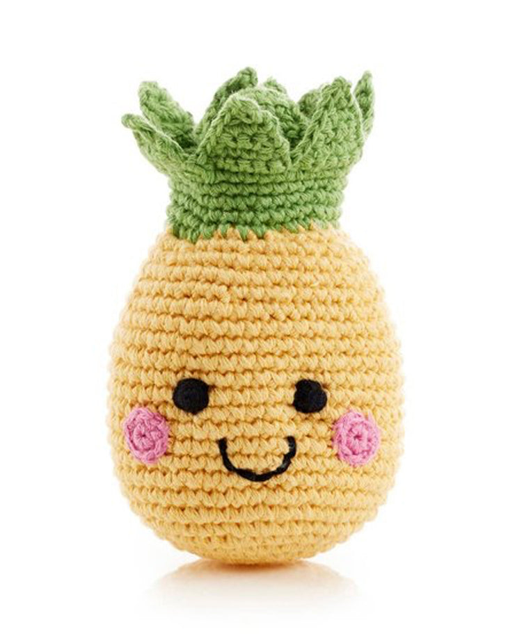 Friendly Faces Pineapple Rattle