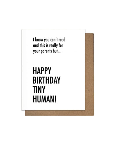 Tiny Human Letterpress Card