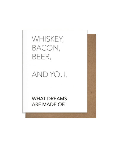 Whiskey And You Letterpress Card