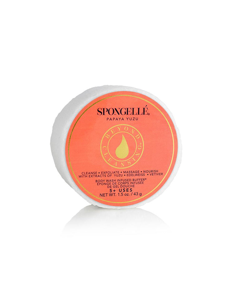 Spongelle Mini Body Wash Infused Buffer (5+ Washes) - Papaya Yuzu