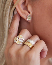 Classic Dish Stud Earrings - Gold by Anna Beck