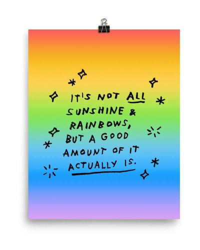 Sunshine & Rainbows 8x10 Art Print