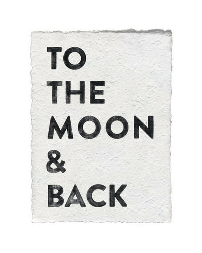 Moon & Back Handmade Paper Art Print