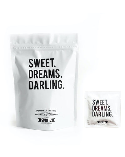 Sweet Dreams Darling Essential Oil Towelettes 7 Day Bag
