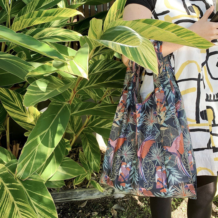 Eco Reusable Shopping Tote - Tropical Birds