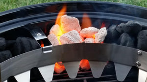 Cook up to 12 hours without changing charcoal.