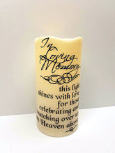In loving memory heaven led flameless candle
