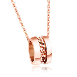 Rose gold pendant necklace stainless steel love is rosegold rose gold pendant necklace stainless steel mozeypictures Image collections